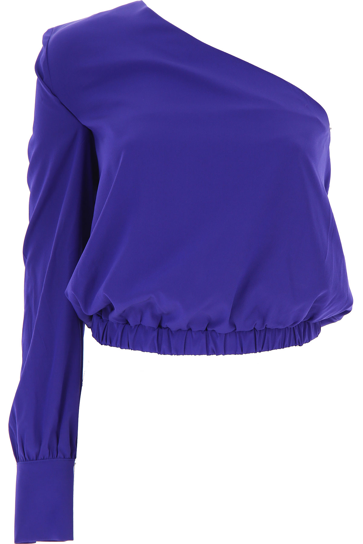 Federica Tosi Top for Women On Sale, Electric Blue, Silk, 2019, 2 4