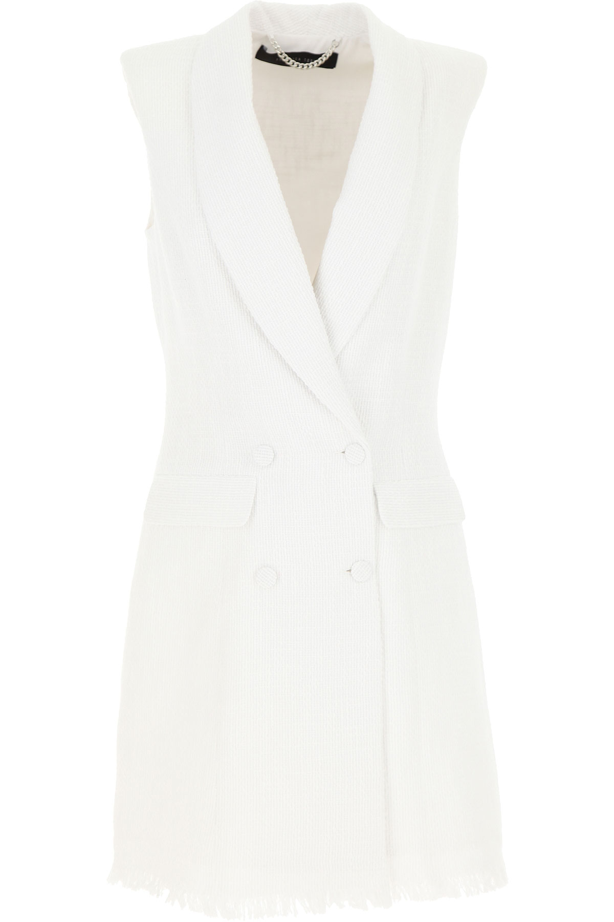 Federica Tosi Dress for Women, Evening Cocktail Party On Sale, White, Cotton, 2019, 4 6