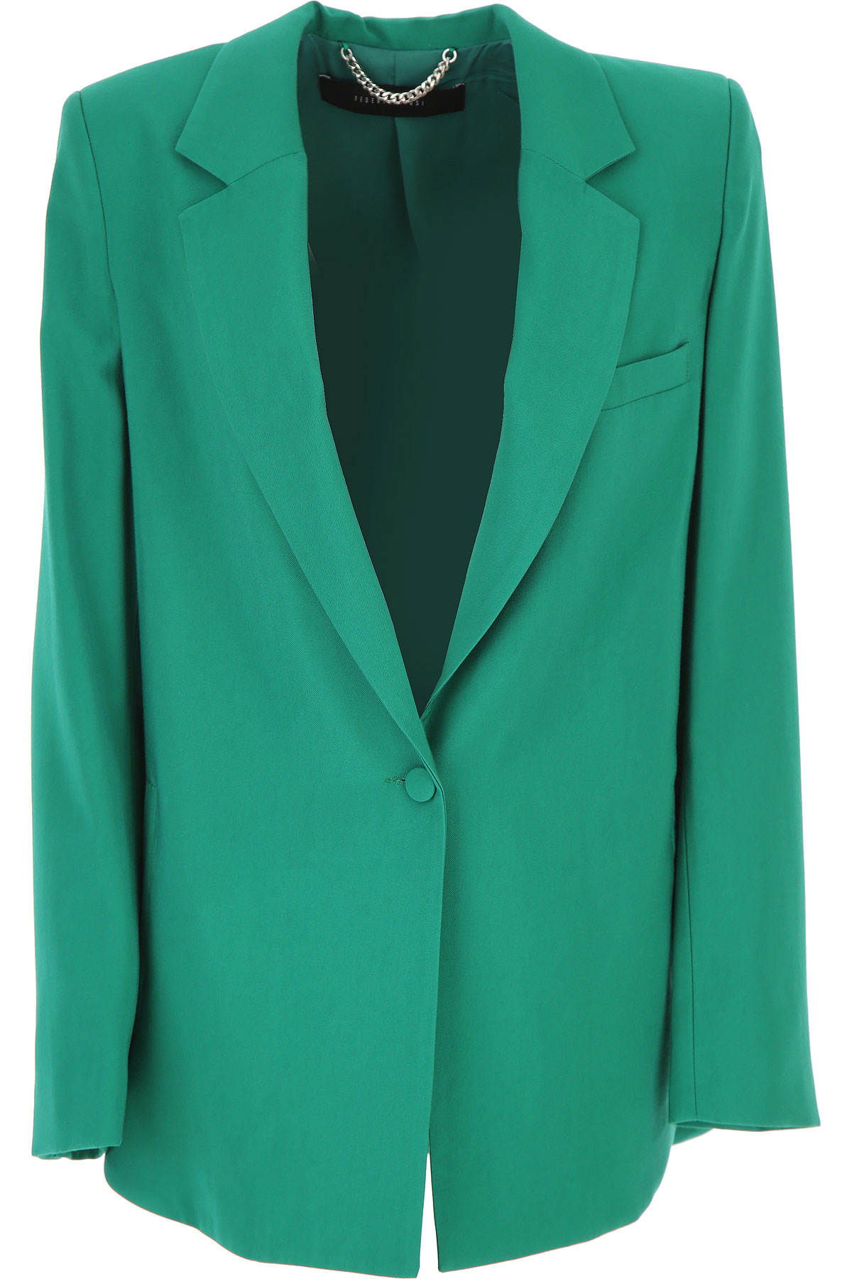 Federica Tosi Blazer for Women On Sale, Green, viscosa, 2019, 2 4 8