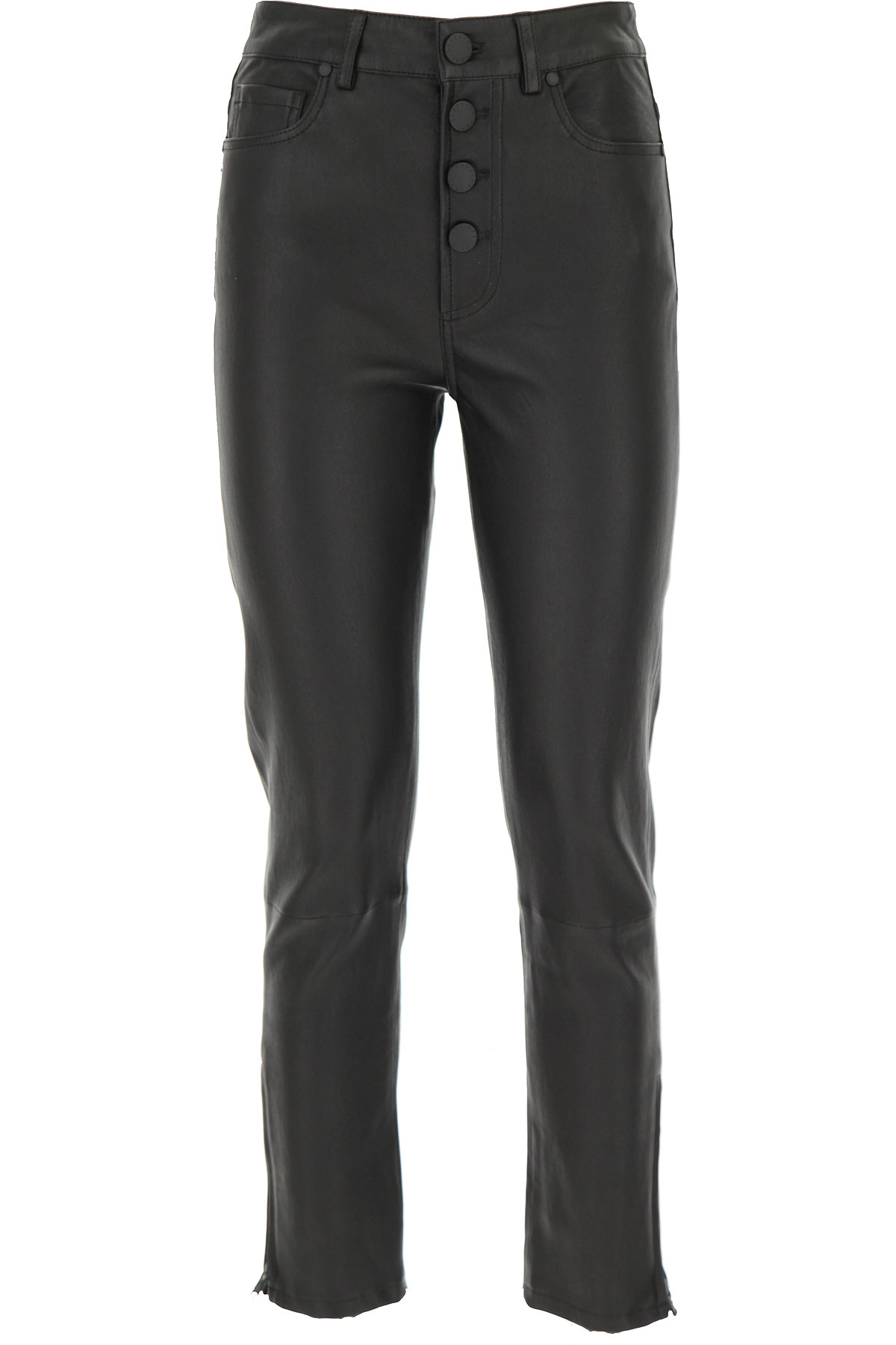 Federica Tosi Pants for Women On Sale, Black, Leather, 2019, 24 26 28
