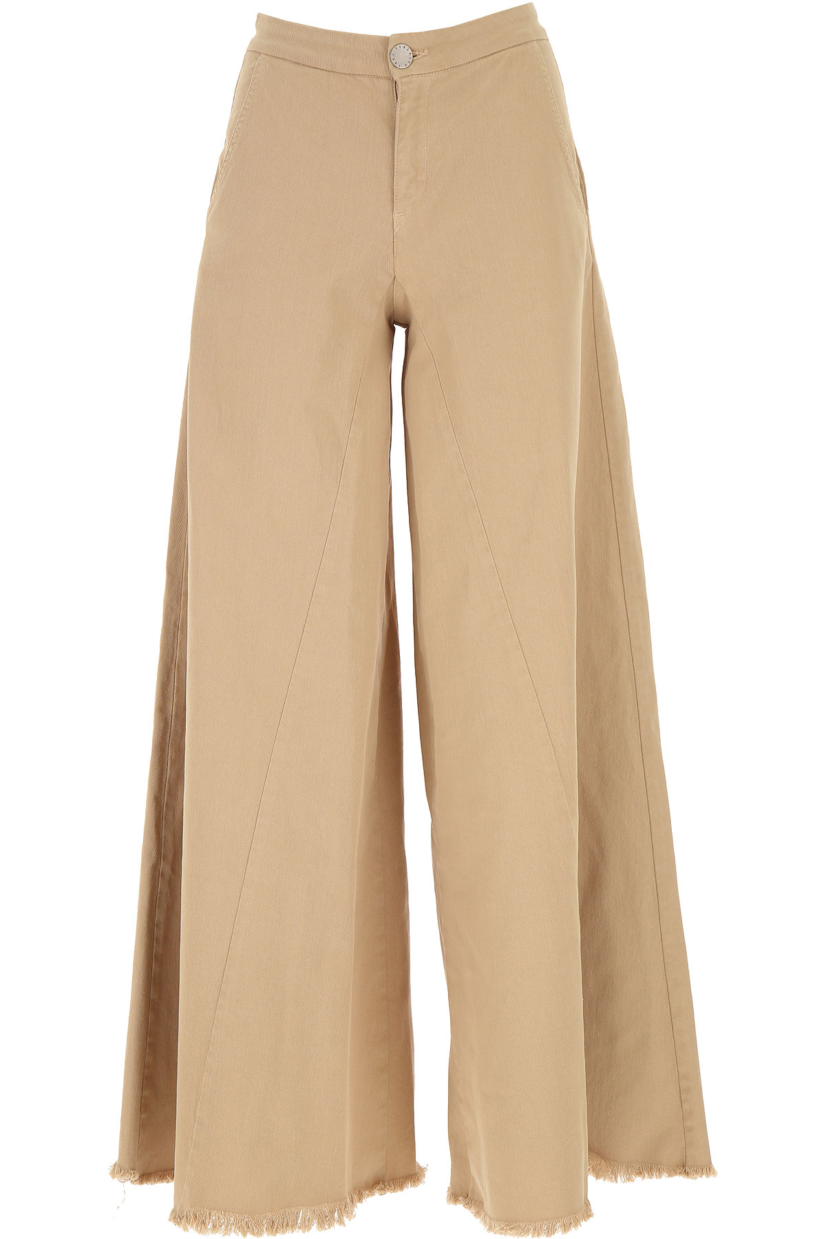 Federica Tosi Pants for Women On Sale, Camel, Cotton, 2019, 26 4 8