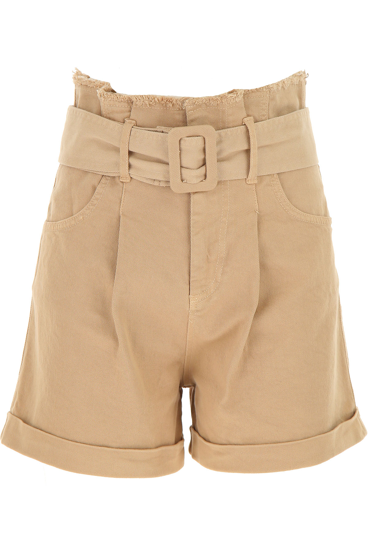 Federica Tosi Shorts for Women On Sale, Beige, Cotton, 2019, 26 4
