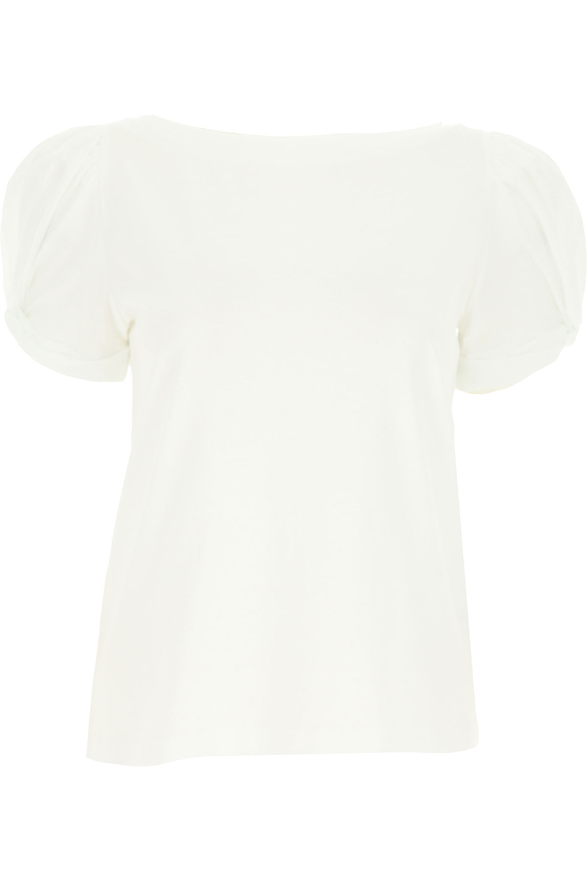 Federica Tosi Top for Women On Sale, White, Cotton, 2019, 10 2