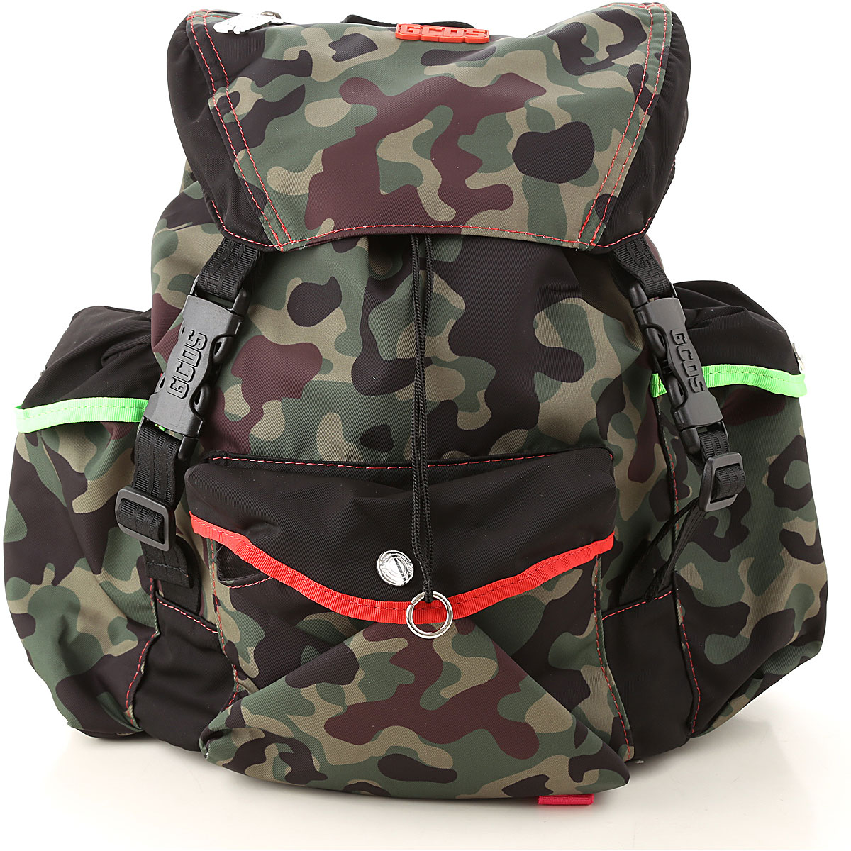 GCDS Backpack for Men On Sale, Camouflage Green, poliestere, 2019