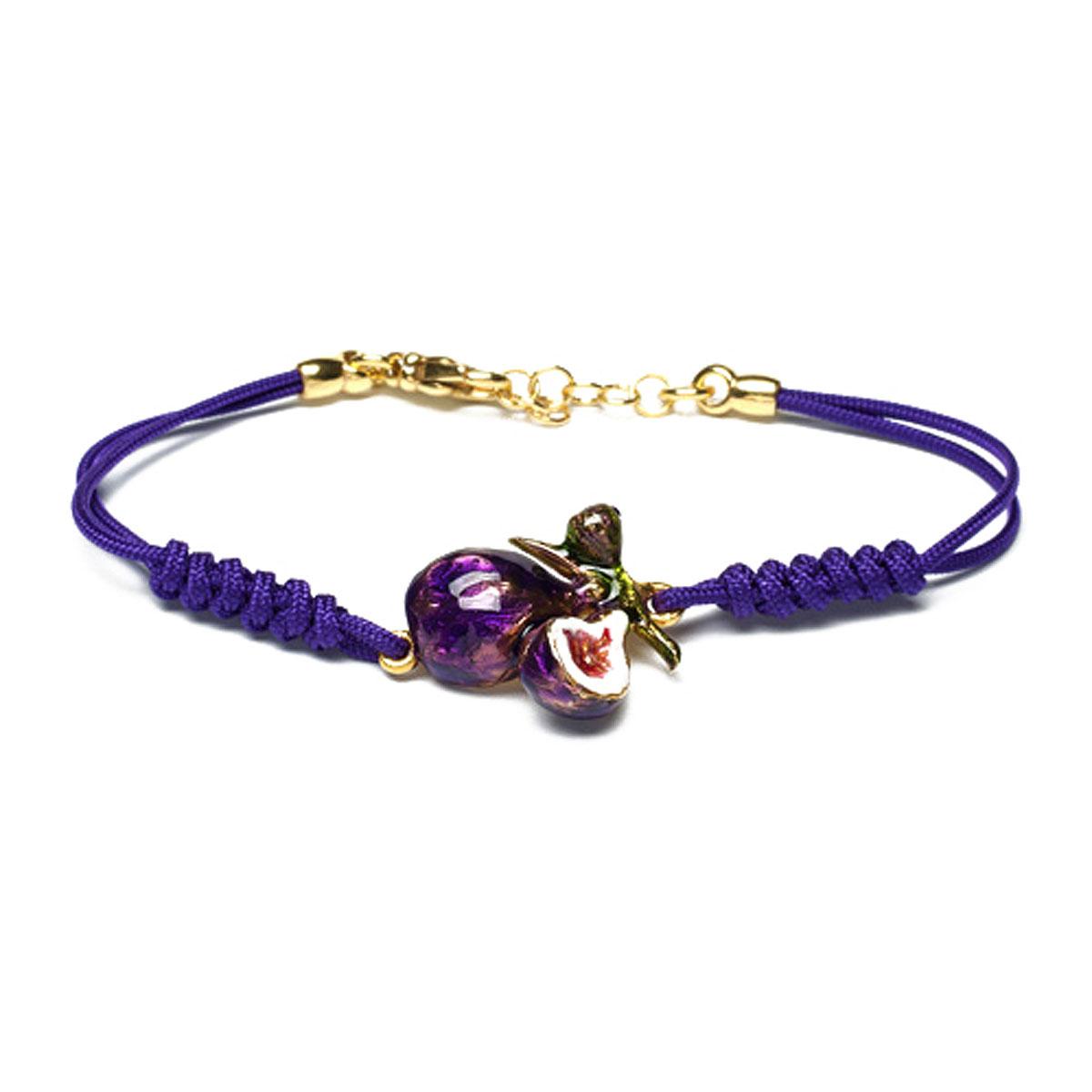 Image of Isola Bella Bracelet for Women, Violet Blue, Silver 925 Galvanized Gold, 2017