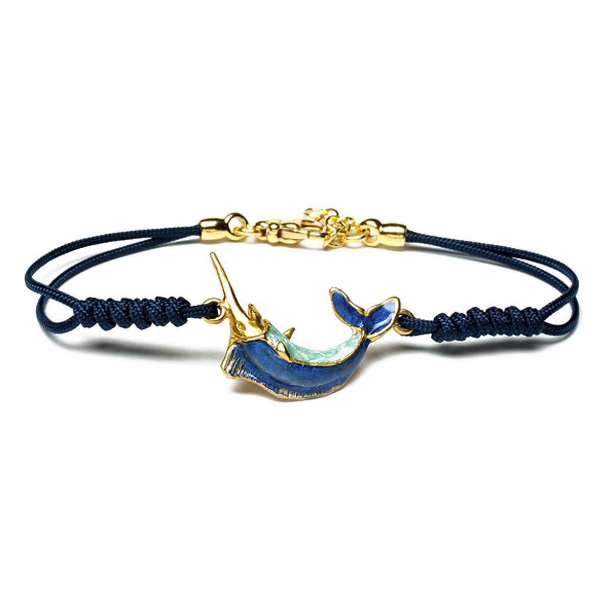 Image of Isola Bella Bracelet for Women, Blue, Silver 925 Galvanized Gold, 2017