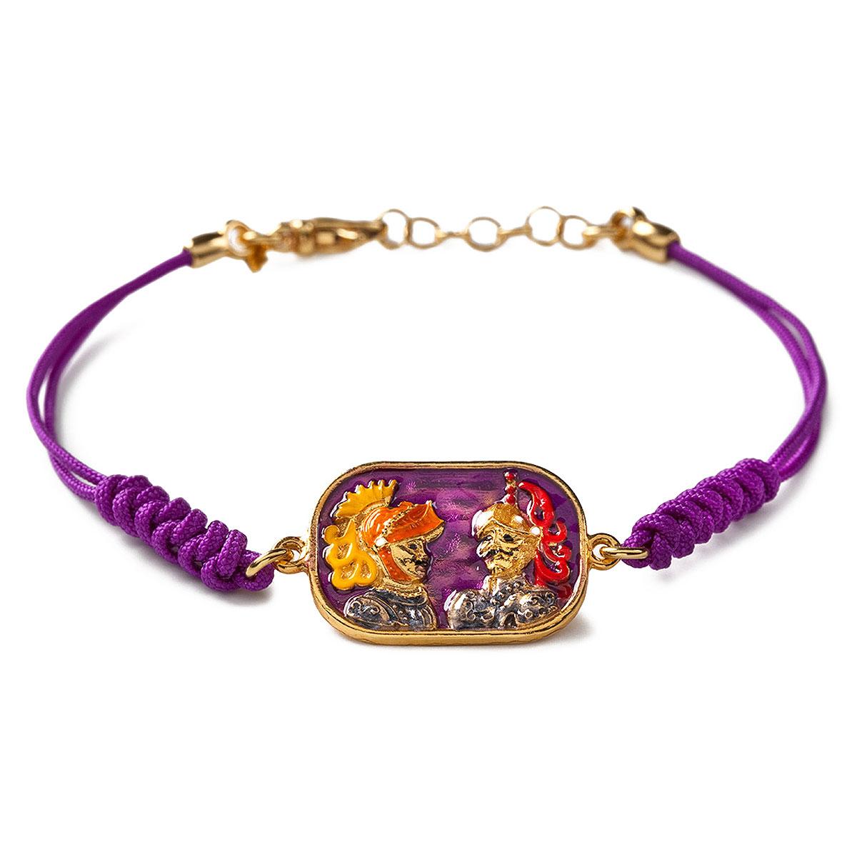 Image of Isola Bella Bracelet for Women, Violet, Silver 925 Galvanized Gold, 2017