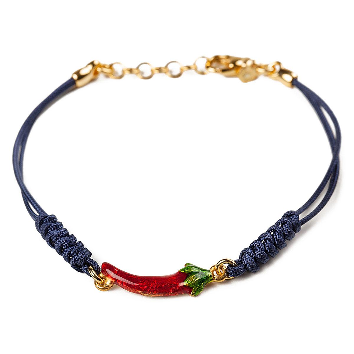 Image of Isola Bella Bracelet for Women, Navy Blue, Silver 925 Galvanized Gold, 2017