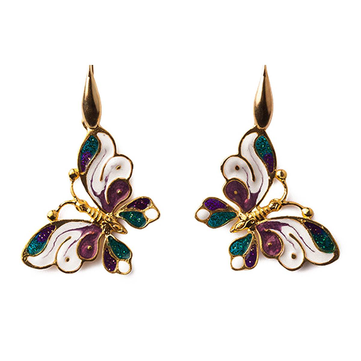 Image of Isola Bella Earrings for Women, Gold, Silk, 2017