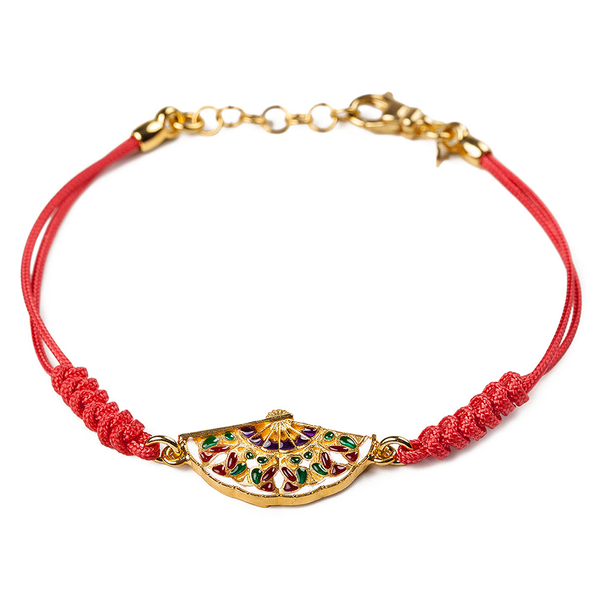 Image of Isola Bella Bracelet for Women, Red, Silver 925 Galvanized Gold, 2017