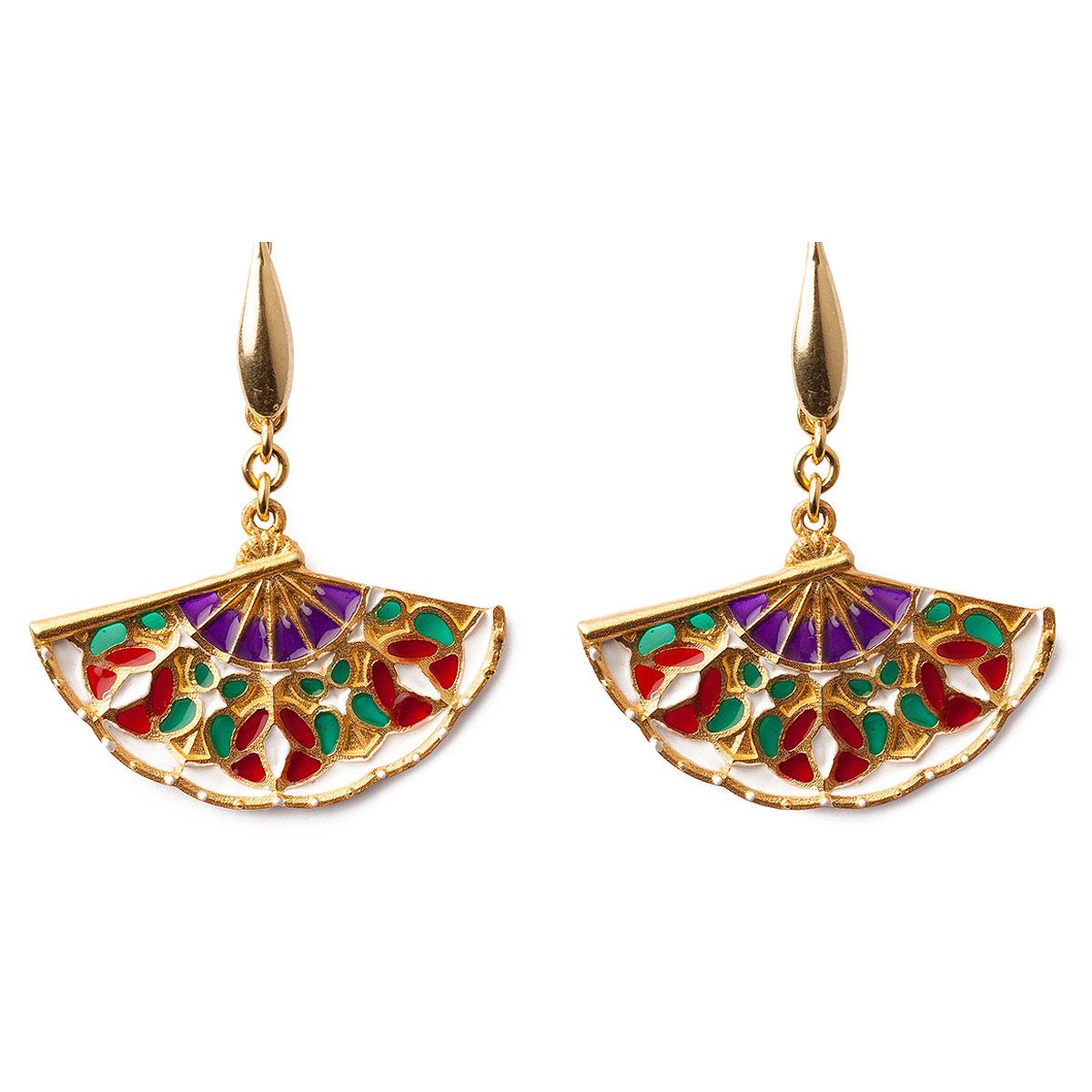Isola Bella Earrings for Women, Multicolor, Silk, 2019
