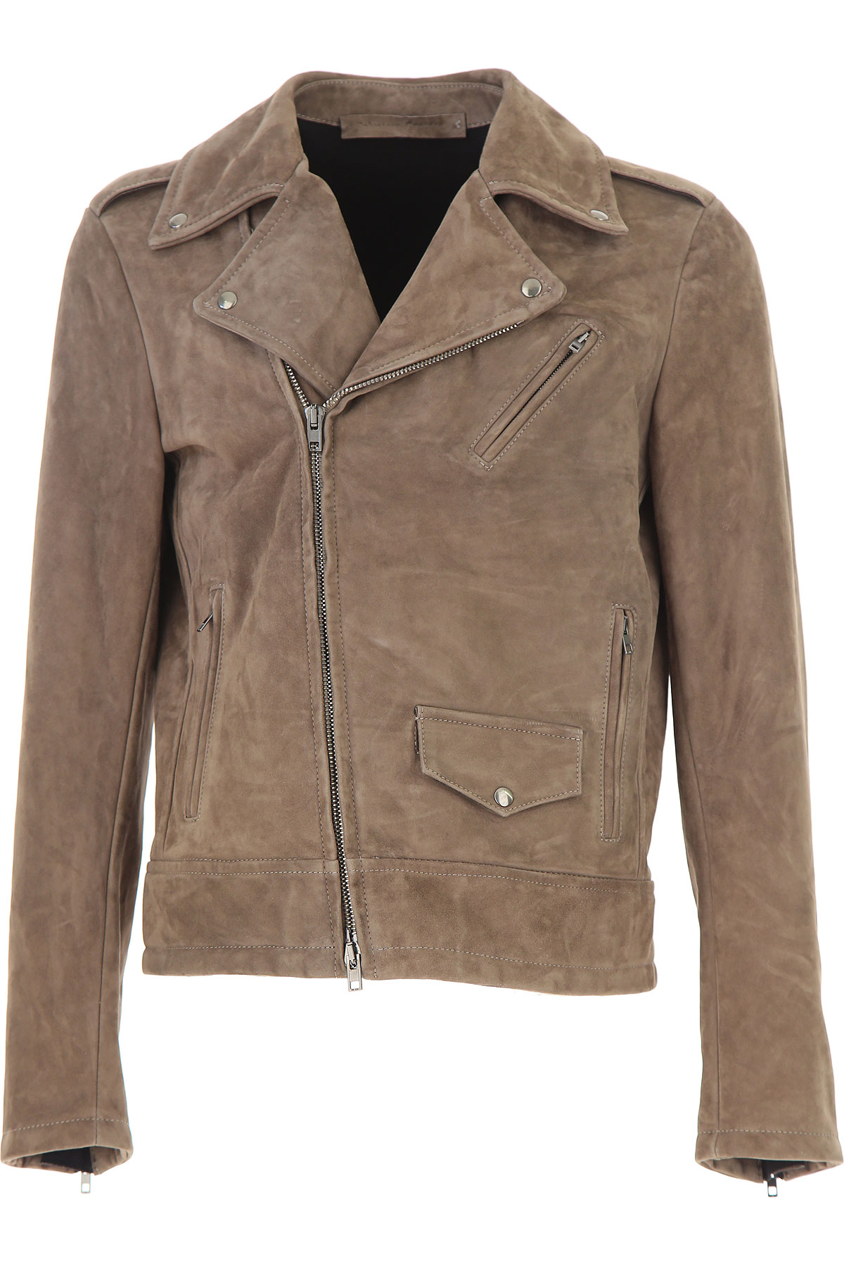 Image of Salvatore Santoro Leather Jacket for Men, Turtle Dove, Suede leather, 2017, L M XL