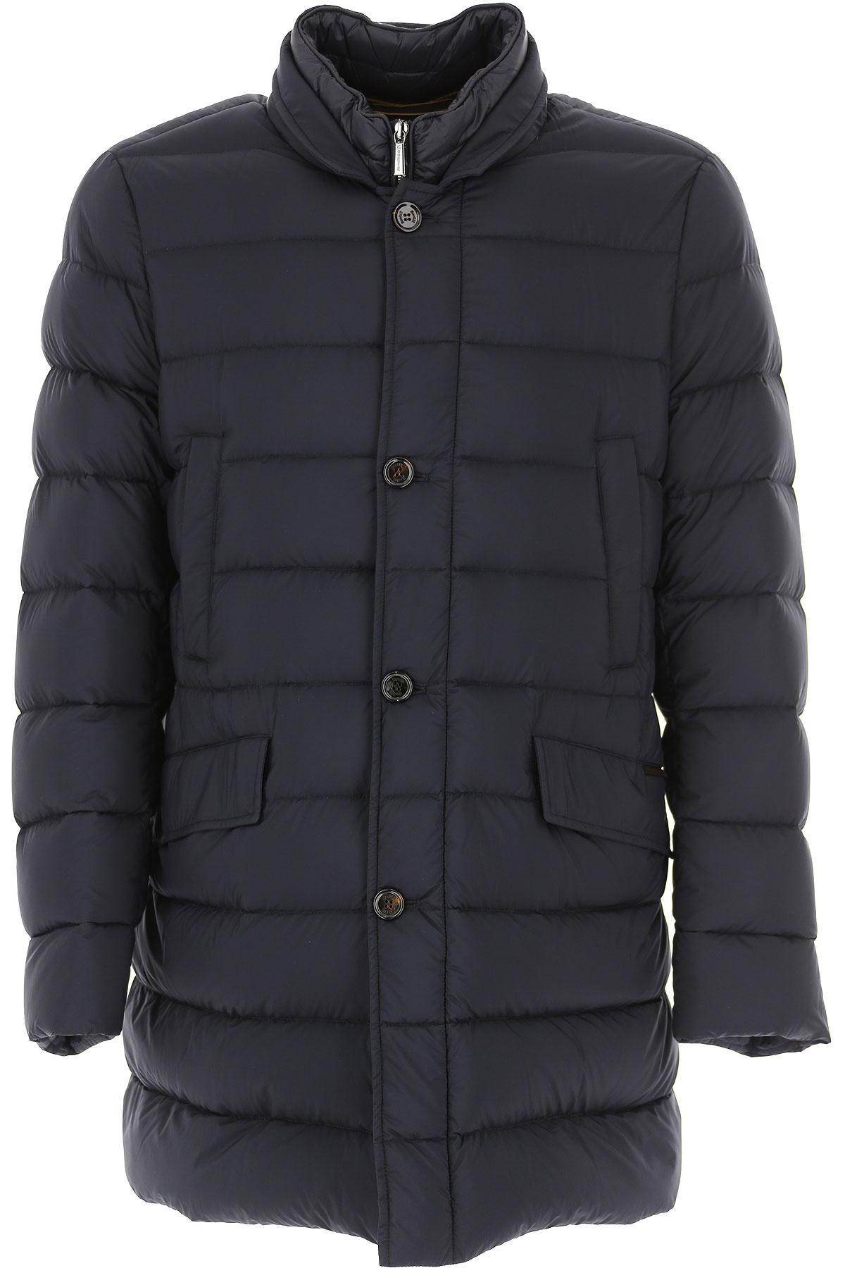 Moorer Down Jacket for Men, Puffer Ski Jacket On Sale, Midnight Blue, polyamide, 2019, L M XXL