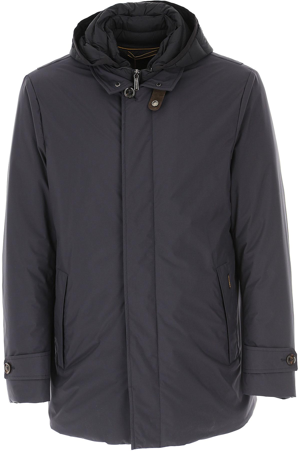 Moorer Down Jacket for Men, Puffer Ski Jacket On Sale, Navy Blue, polyester, 2019, L M S XL