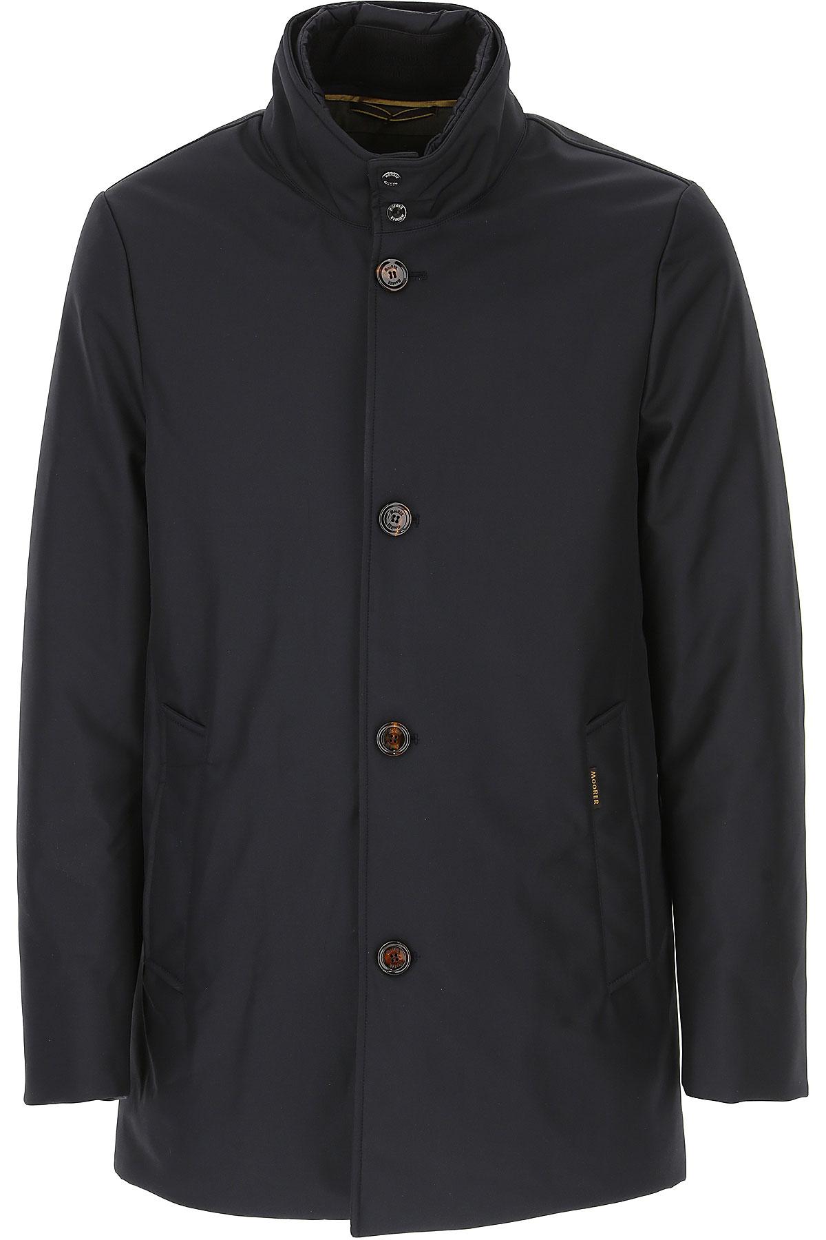 Image of Moorer Down Jacket for Men, Puffer Ski Jacket, Dark Blue Navy, polyester, 2017, L XL