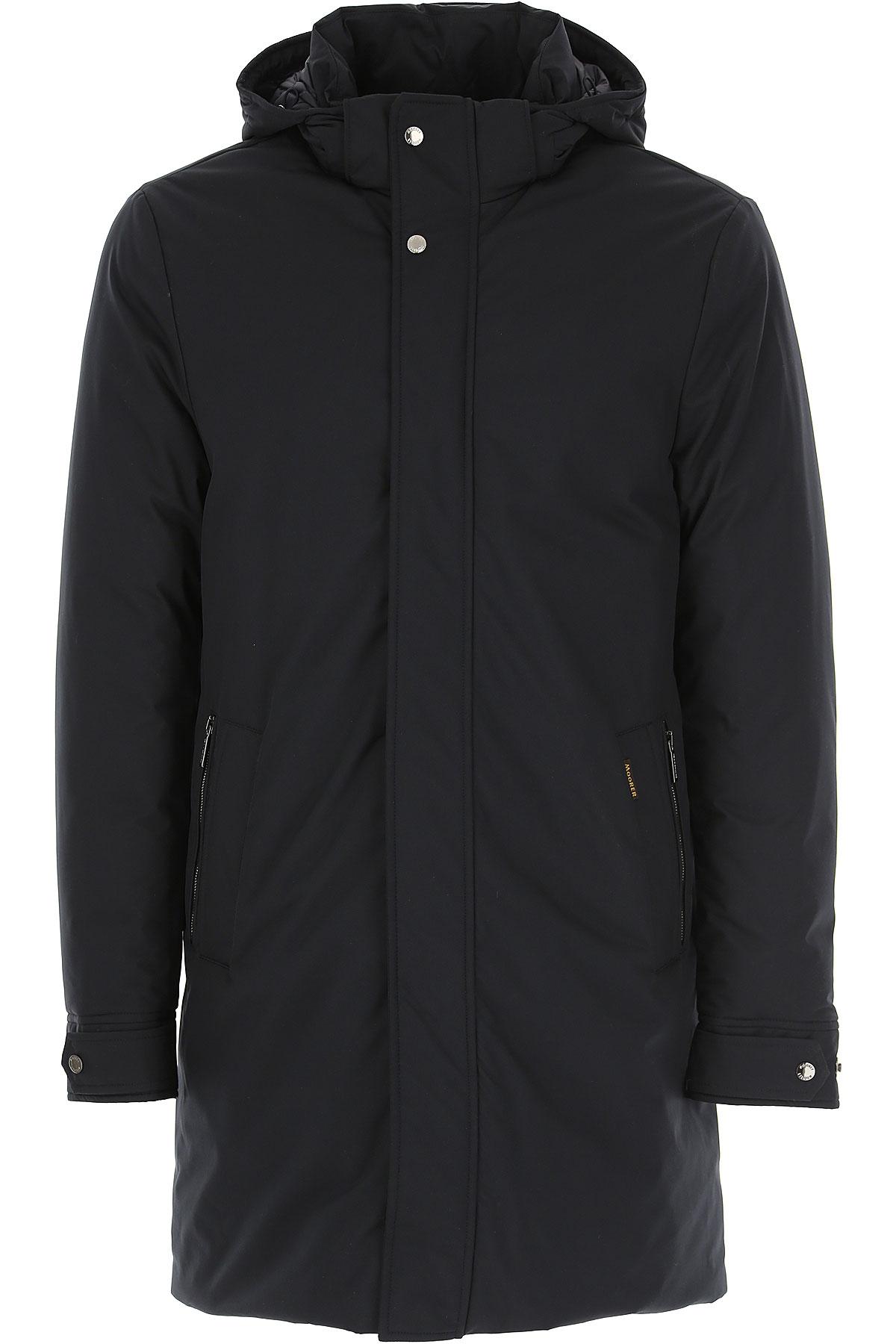 Moorer Down Jacket for Men, Puffer Ski Jacket On Sale, Ink Blue, polyamide, 2019, XL