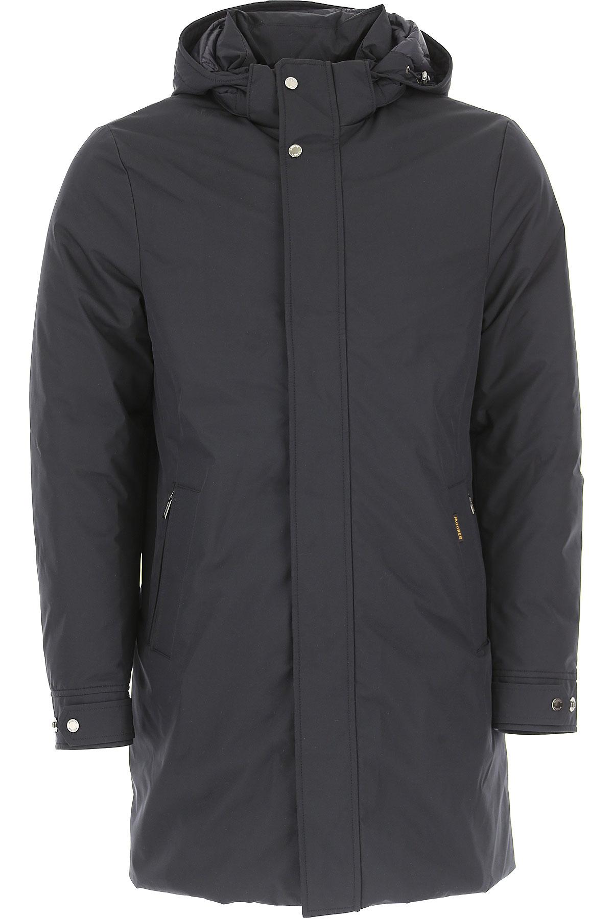 Image of Moorer Down Jacket for Men, Puffer Ski Jacket, Blue Navy, polyester, 2017, L M