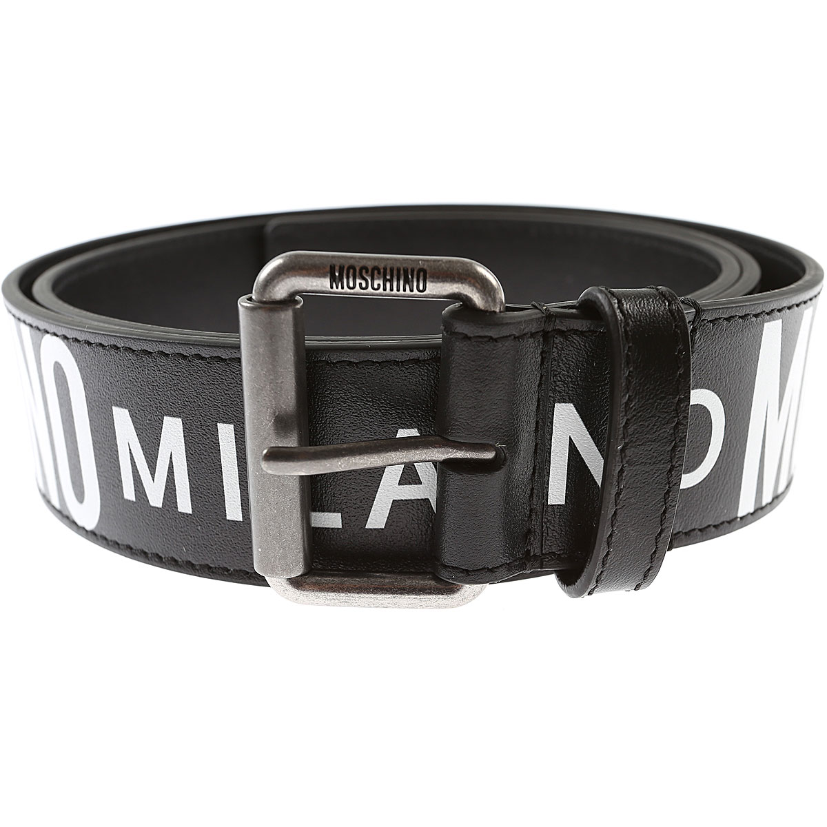 Moschino Mens Belts, Black, Leather, 2017, 48 (90 - 95 cm) 50 (100 - 105 cm) 52 (110 - 115 cm) 54 (120 cm)