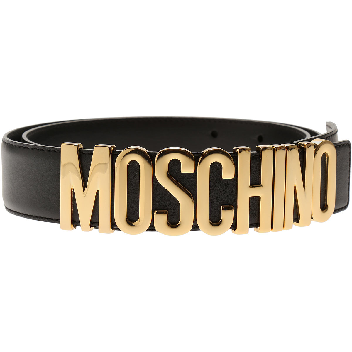 Moschino Womens Belts, Black, Leather, 2017, 38 inches - 95 cm 40 inches - 100 cm 42 inches - 105 cm 44 inches - 110 cm Eu - 38 Eu - 40 EU - 42