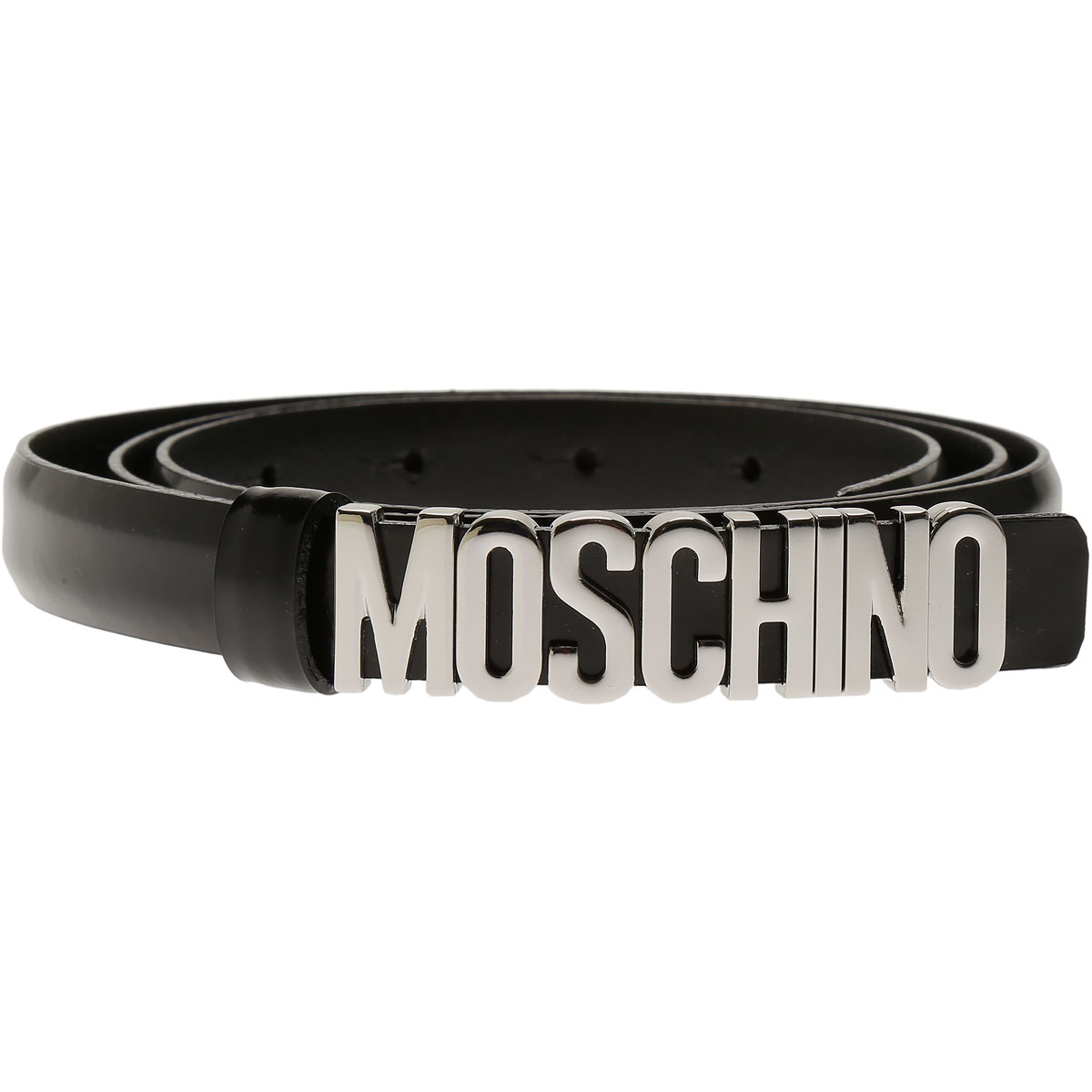 Moschino Womens Belts, Black, Leather, 2017, 38 inches - 95 cm 40 inches - 100 cm 42 inches - 105 cm 44 inches - 110 cm