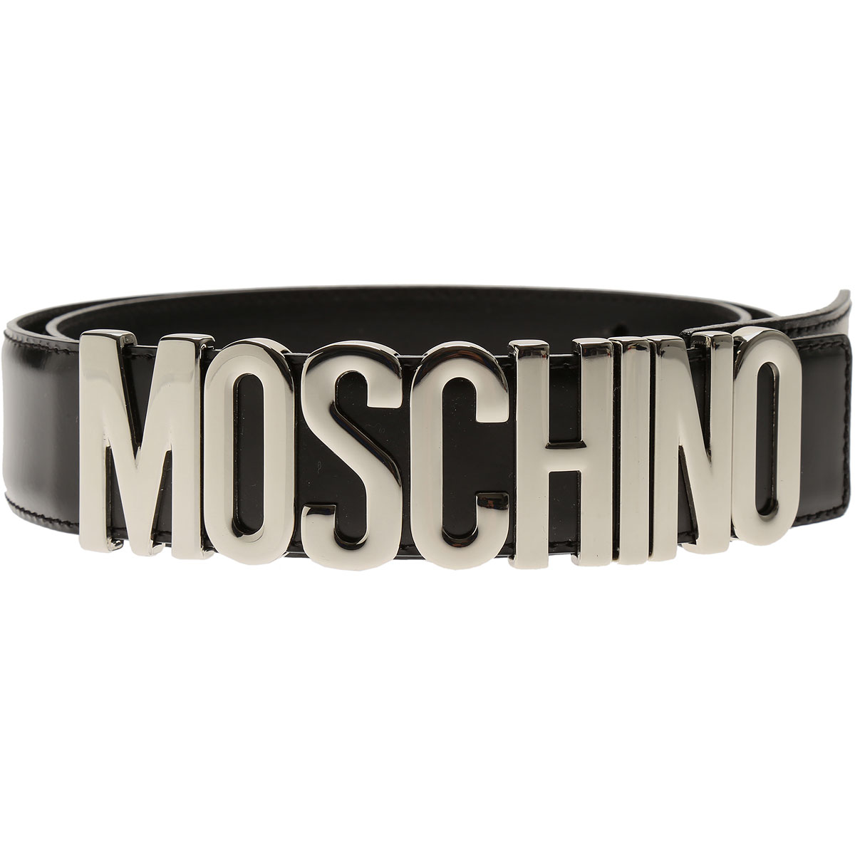 Moschino Womens Belts, Black, Leather, 2017, Eu - 38 Eu - 40 EU - 42 Eu - 44 Eu - 46