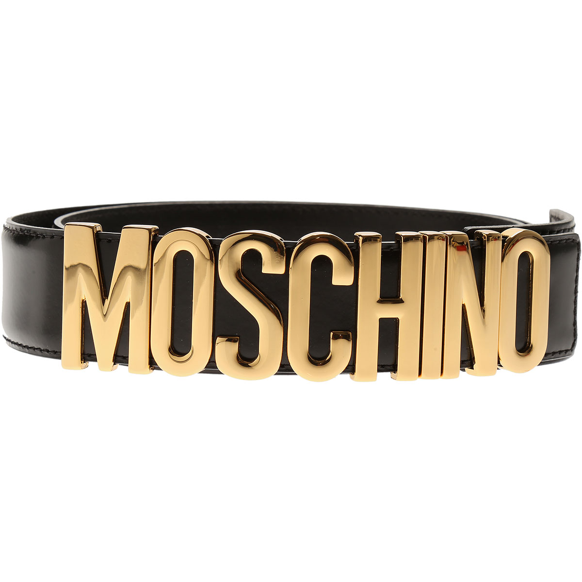 Moschino Womens Belts, Black, Leather, 2017, 36 inches - 90 cm 40 inches - 100 cm 42 inches - 105 cm 44 inches - 110 cm