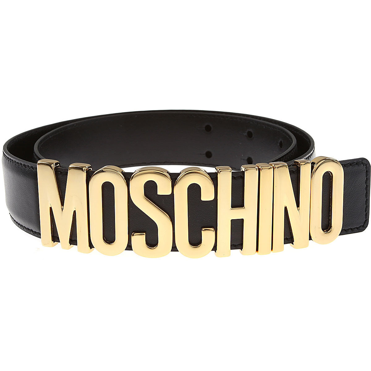 Moschino Gürtel, Schwarz, Echtes Leder |