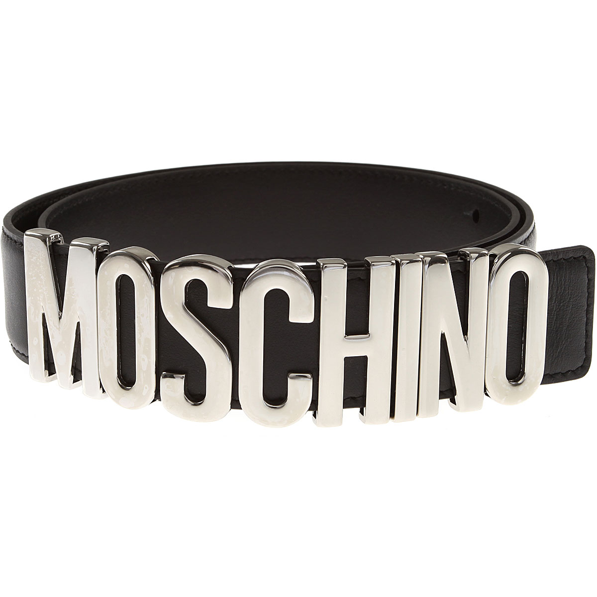 Moschino Womens Belts, Black, Leather, 2017, 44 inches - 110 cm Eu - 40