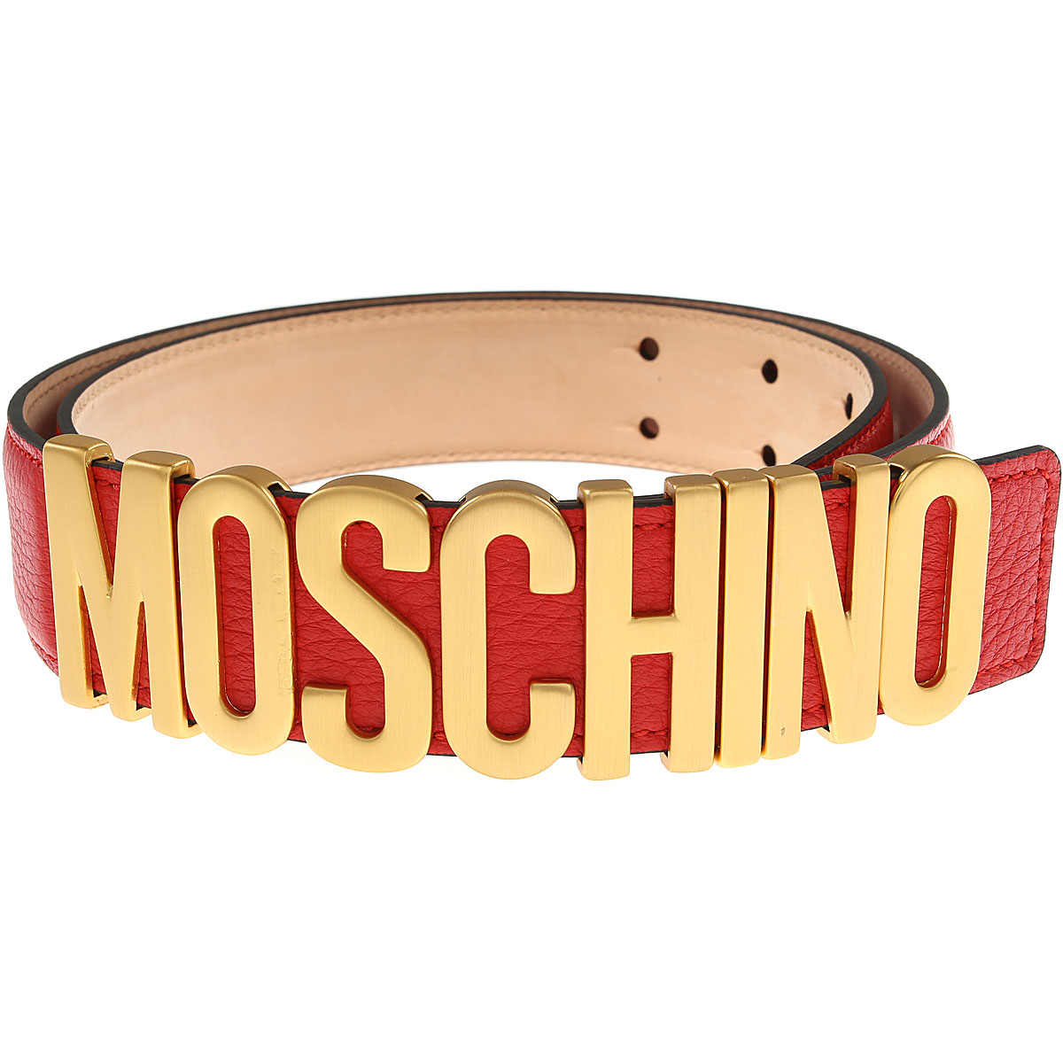 Moschino Womens Belts, Red, Leather, 2017, 38 inches - 95 cm 40 inches - 100 cm 42 inches - 105 cm 44 inches - 110 cm 30 inches - 75 cm