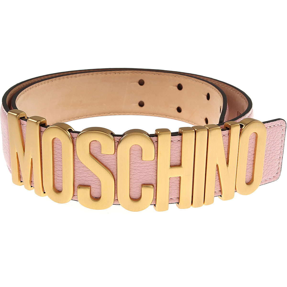 Moschino Womens Belts, Pink, Leather, 2017, 38 inches - 95 cm 40 inches - 100 cm 42 inches - 105 cm Eu - 38 Eu - 40 EU - 42