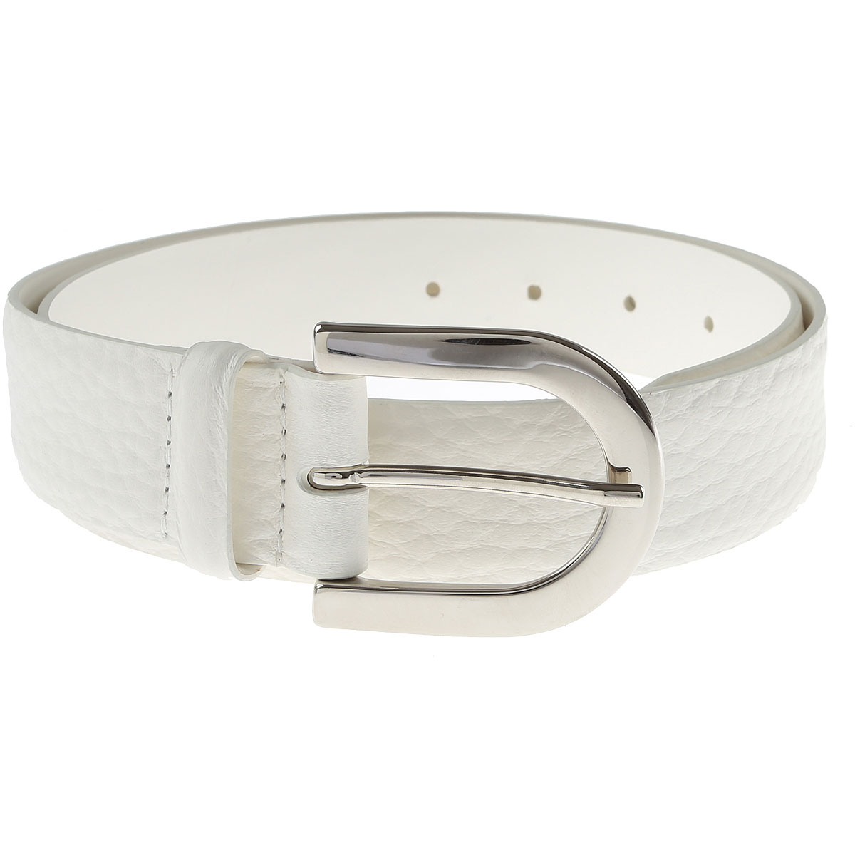 Orciani Belt for Women, White, Leather, 2017, 32 inches - 80 cm 30 inches - 75 cm