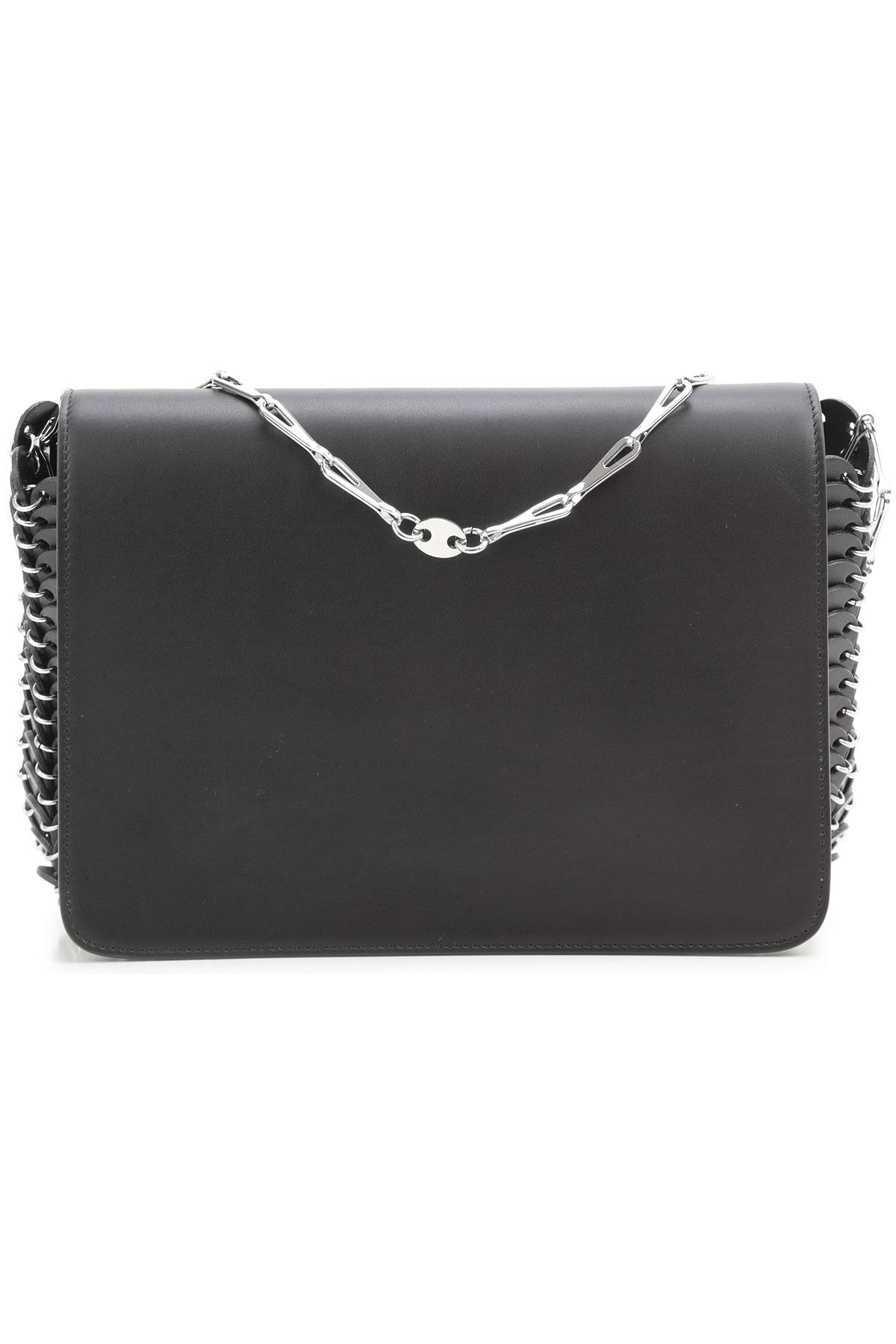 Image of Paco Rabanne Shoulder Bag for Women On Sale, Black, Leather, 2017