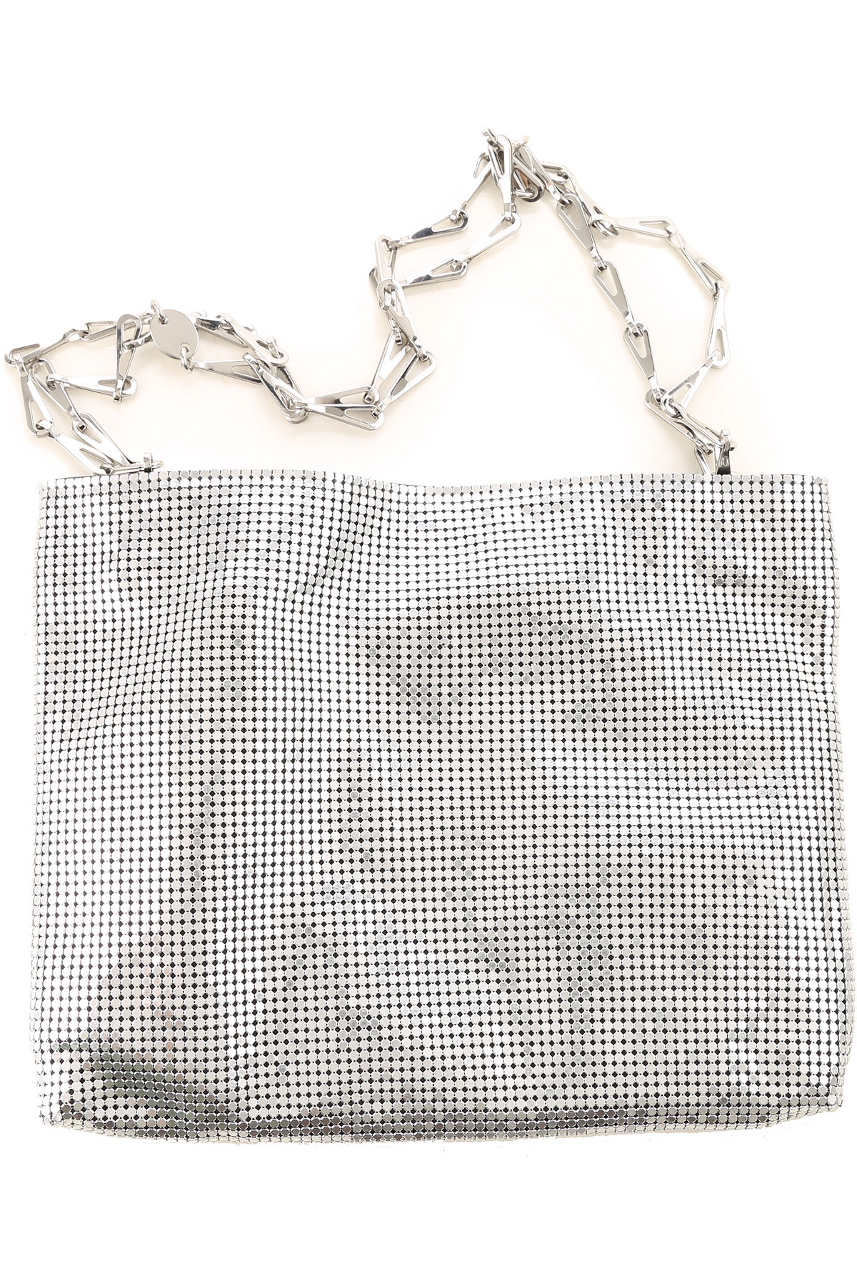 Paco Rabanne Shoulder Bag for Women On Sale, Silver, Leather, 2019