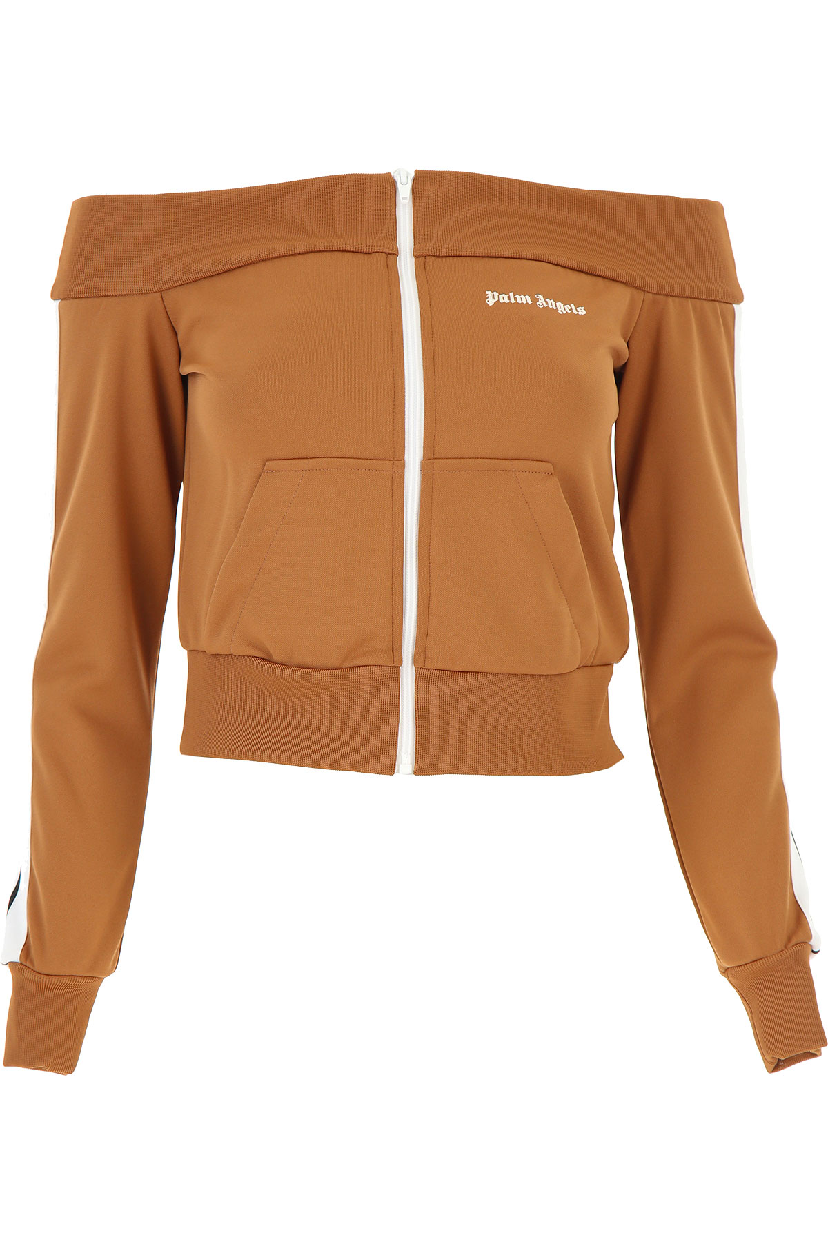 Palm Angels Sweatshirt for Women On Sale, Brown, polyester, 2019, 2 4