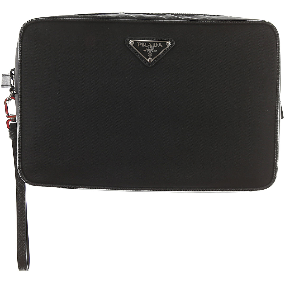 Image of Prada Toiletry Bag for Men, Black, Nylon, 2017
