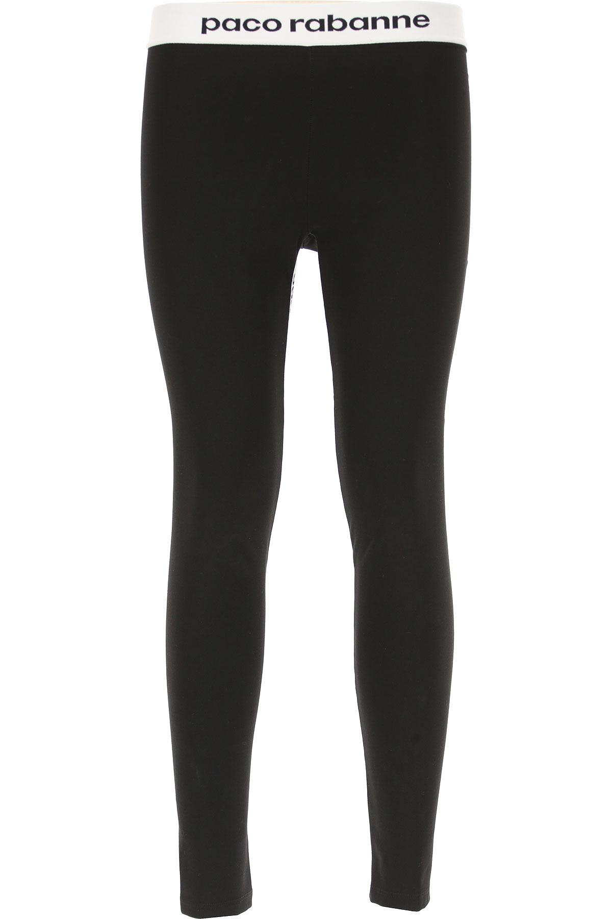 Paco Rabanne Pantalon Femme, Noir, Viscose, 2017, 40 42