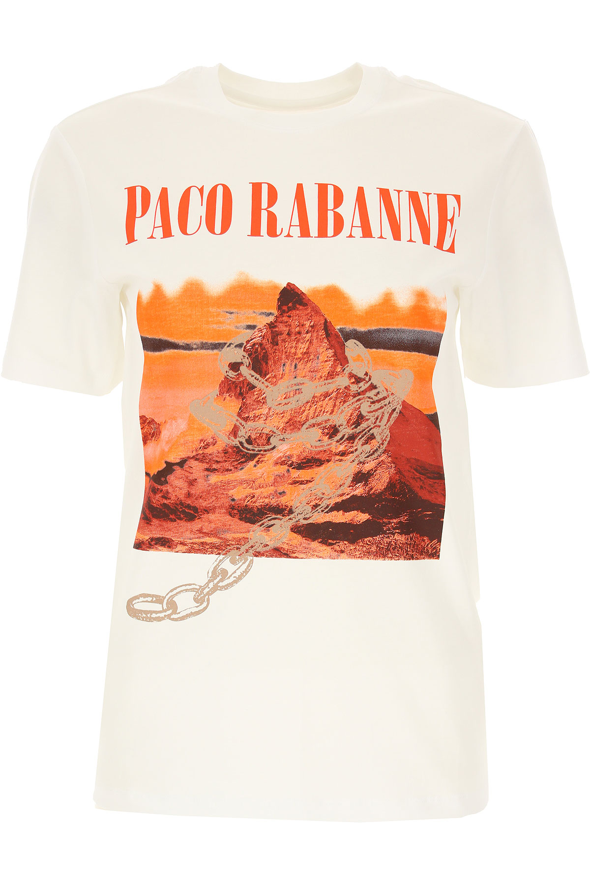 Paco Rabanne T-Shirt for Women On Sale, White, Cotton, 2019, 6 8