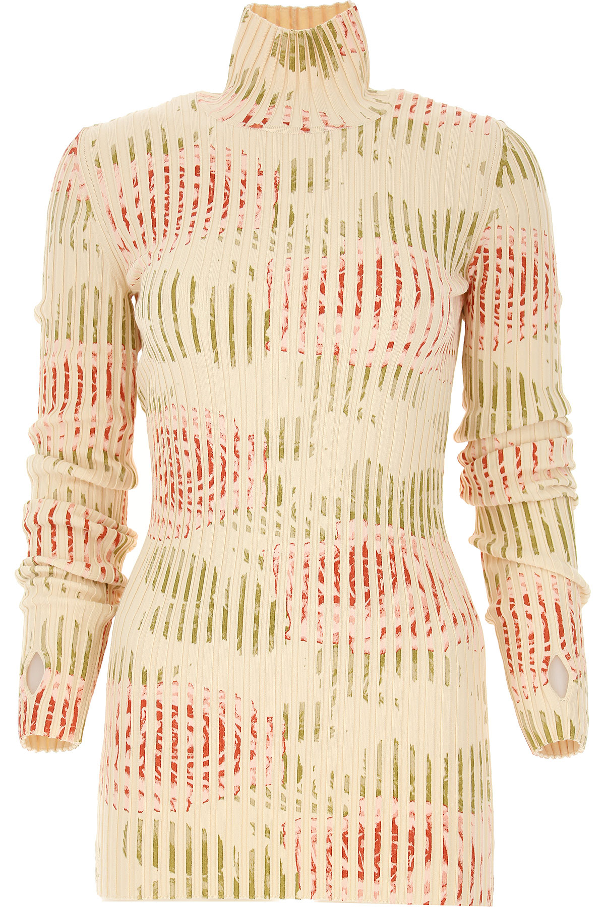 Paco Rabanne Sweater for Women Jumper On Sale, Cream, Cotton, 2019, 4 6