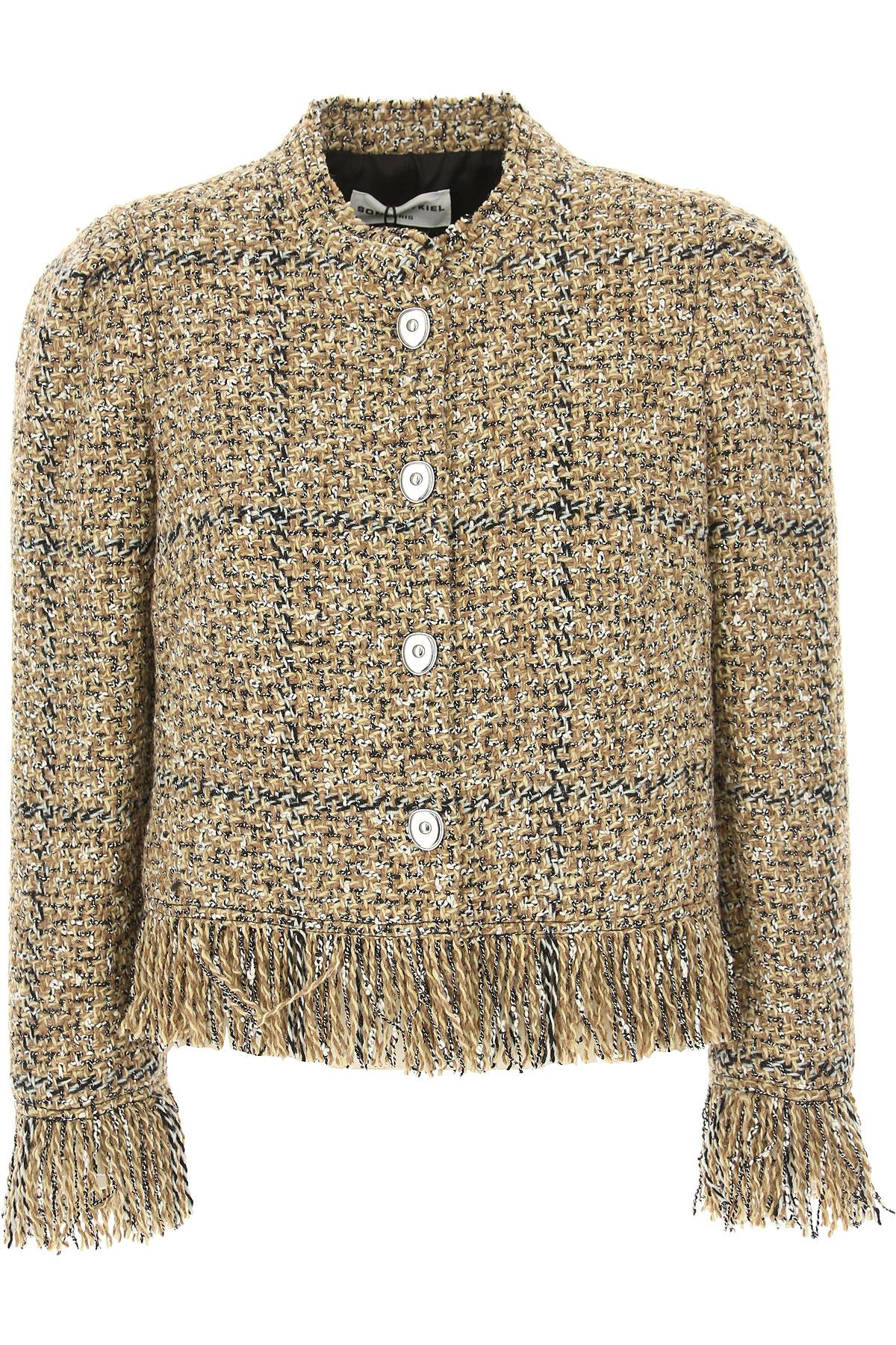 Image of Sonia Rykiel Jacket for Women, Beige, Wool, 2017, 2 4 6