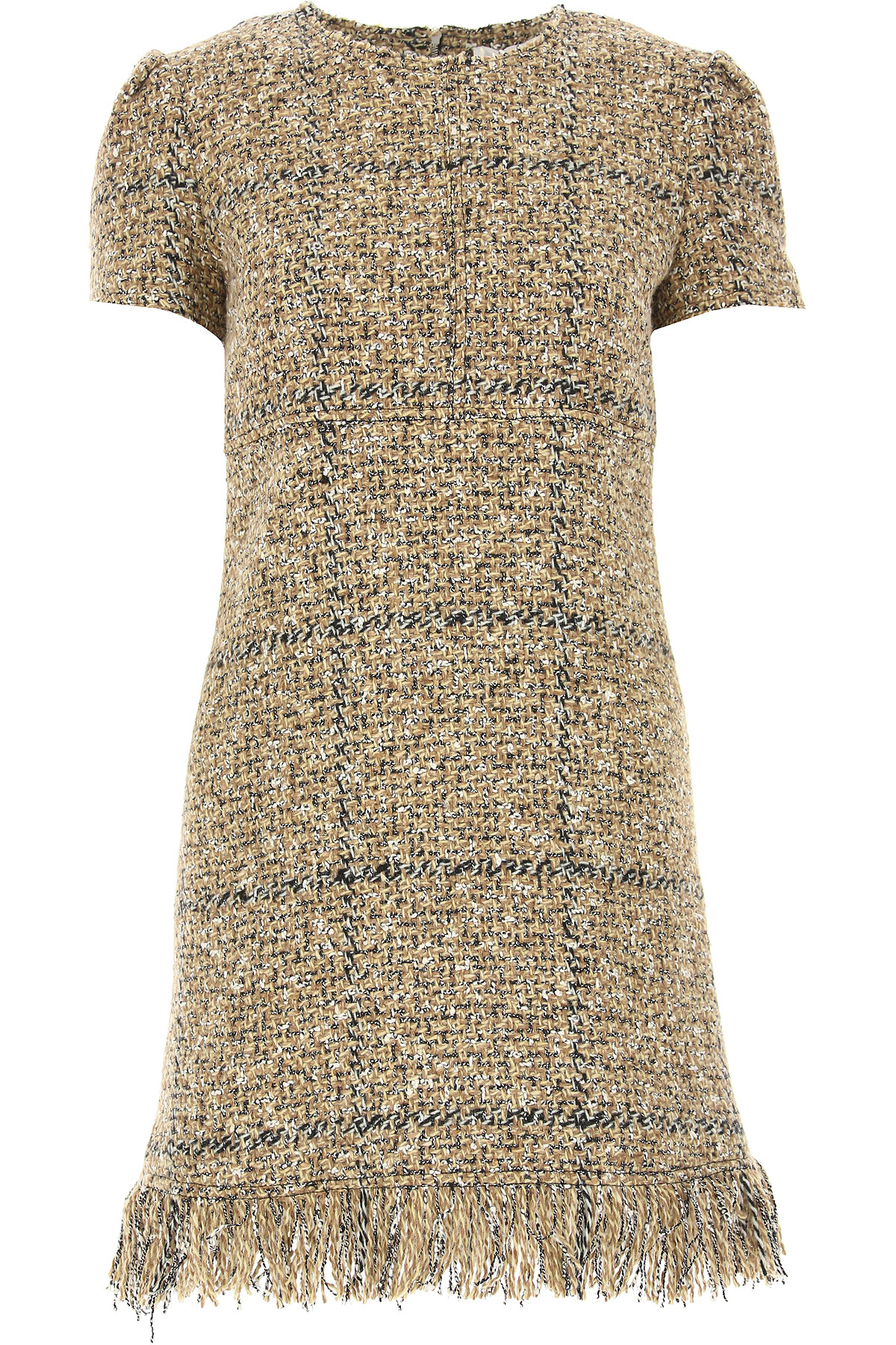 Image of Sonia Rykiel Dress for Women, Evening Cocktail Party, Beige, Wool, 2017, 2 4 6