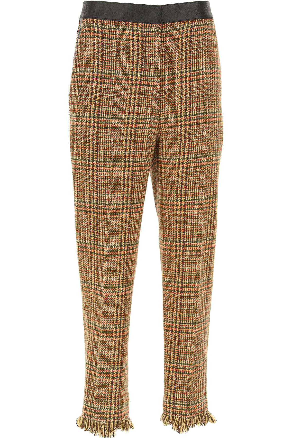 Image of Sonia Rykiel Pants for Women, Multicolor, Wool, 2017, 26 28