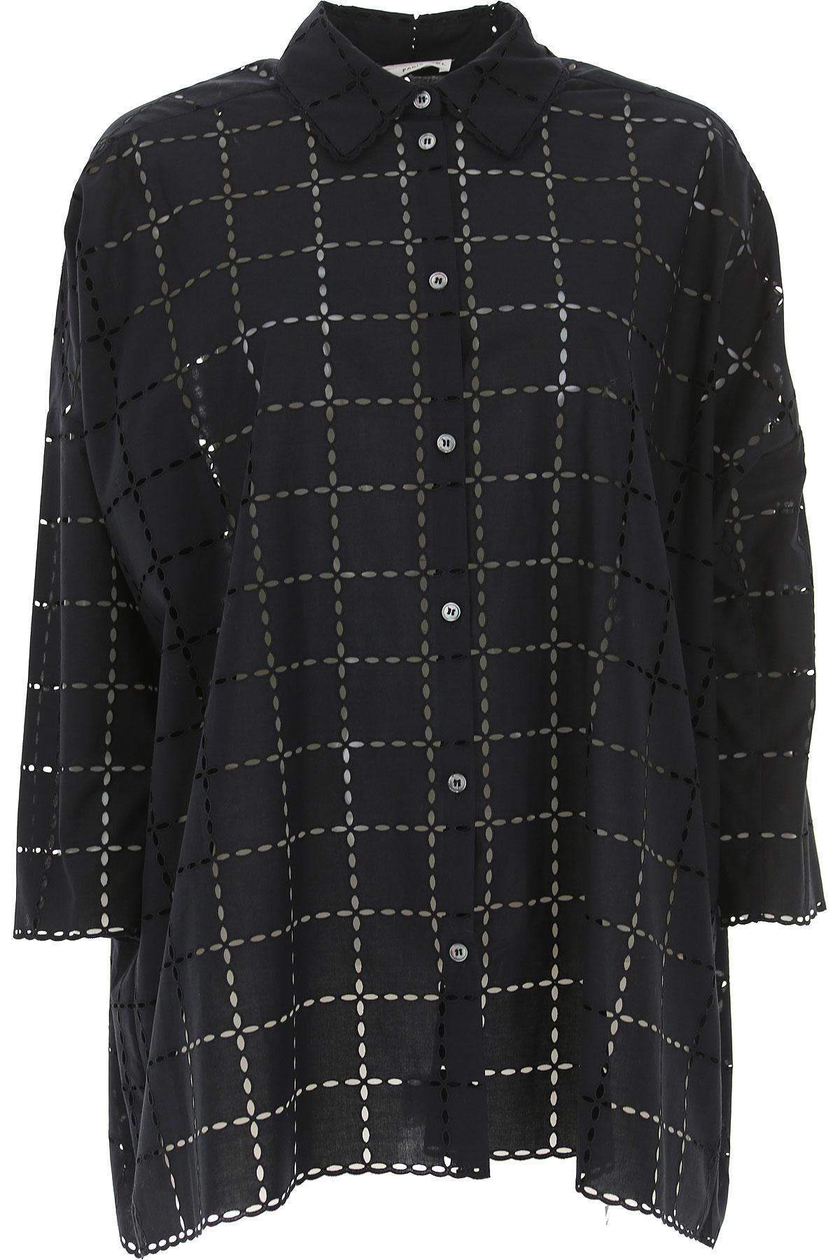 Image of Sonia Rykiel Shirt for Women, Black, Cotton, 2017, 26