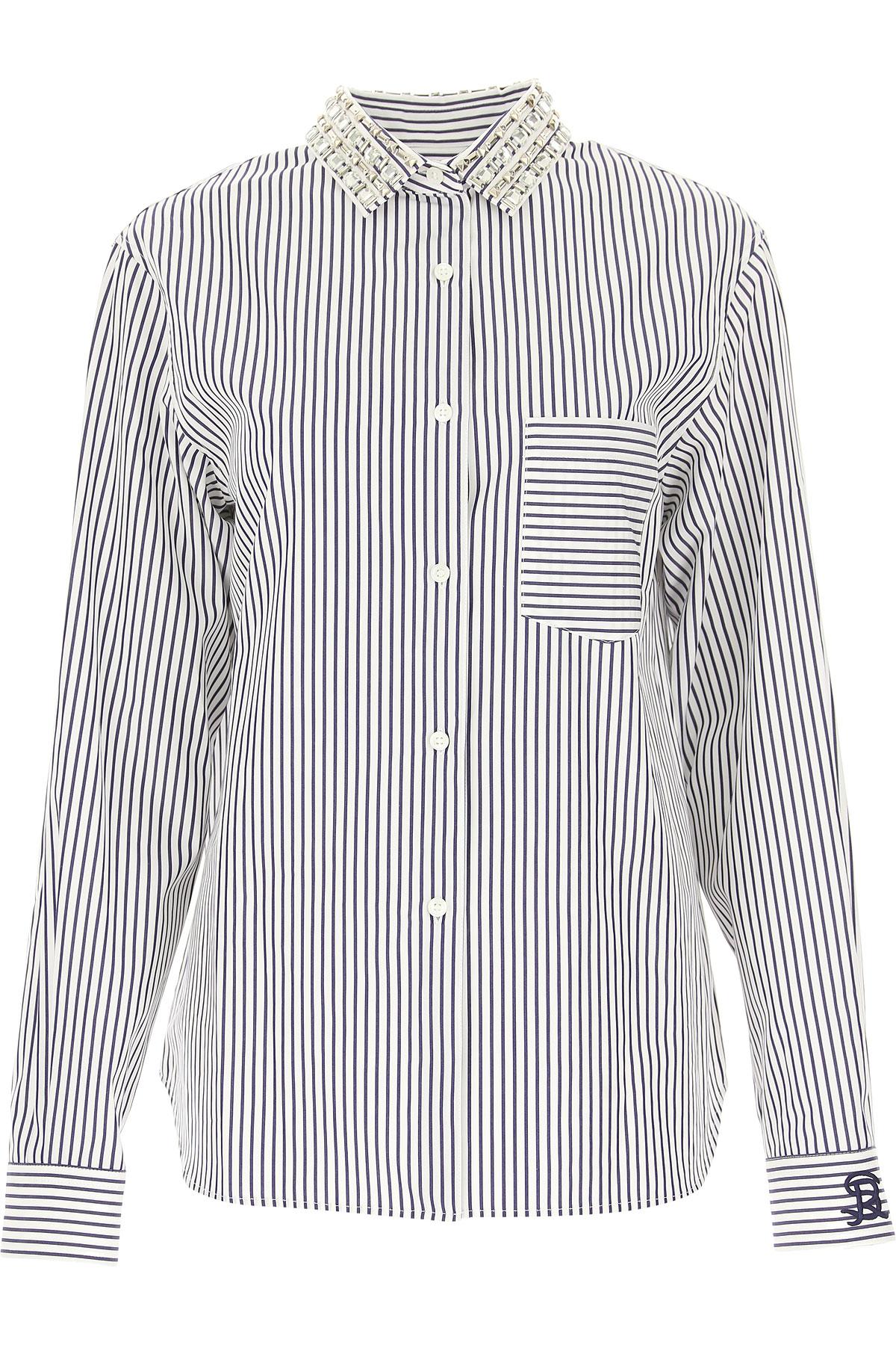 Image of Sonia Rykiel Shirt for Women, White, Cotton, 2017, 26