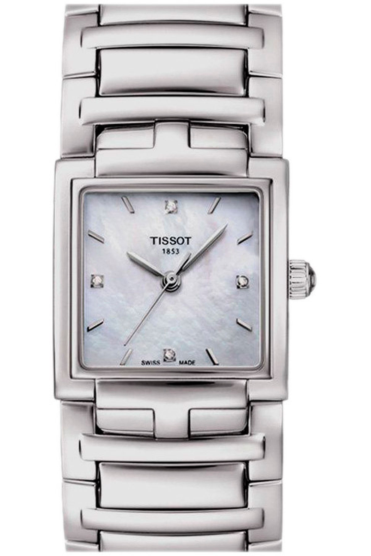 Tissot Watch for Women On Sale, Evocation Diamond, Grey, Stainless Steel, 2017