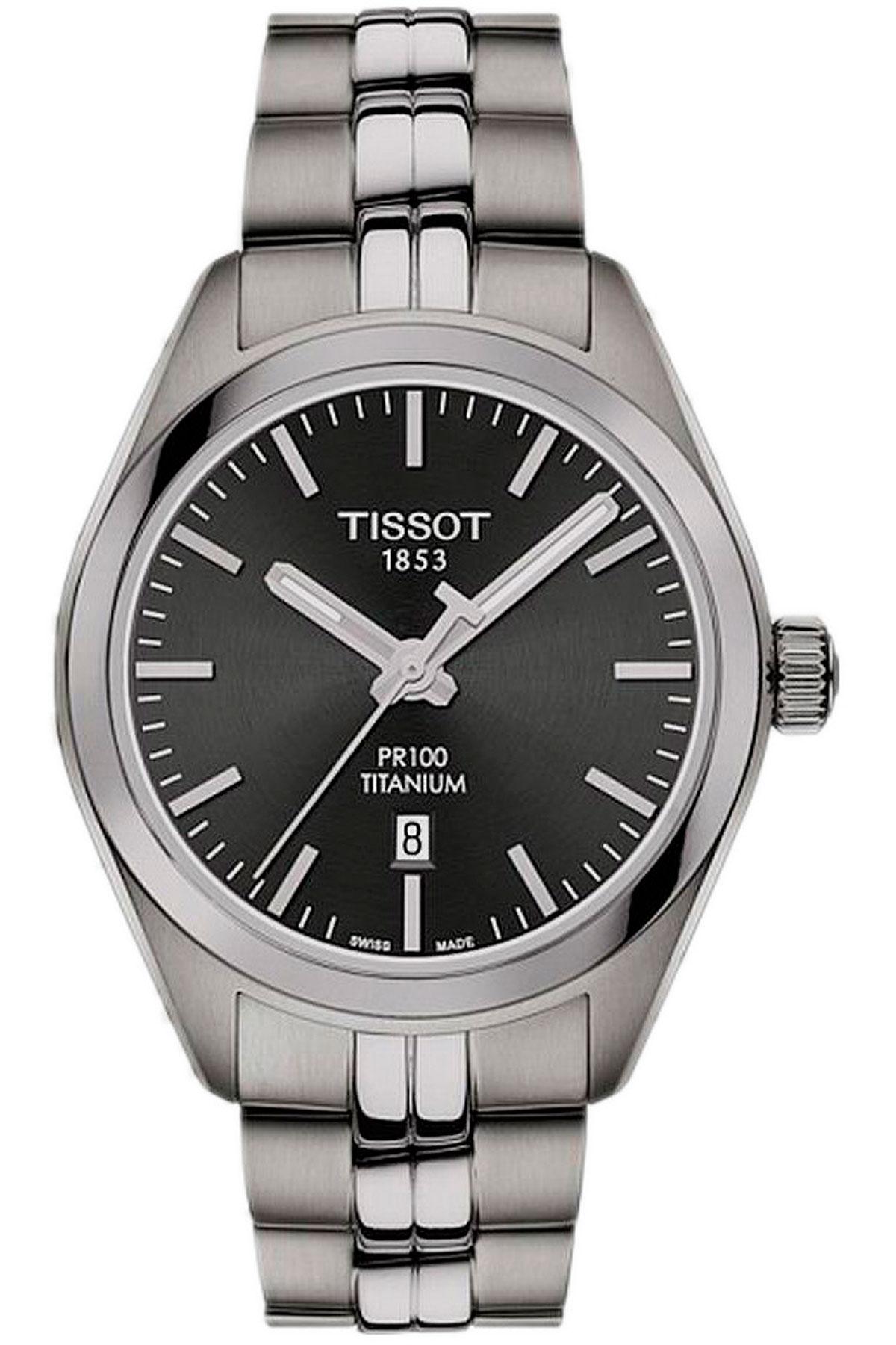 Tissot Watch for Women, Pr 100 Titanium Quartz Lady, Steel, Stainless Steel, 2019