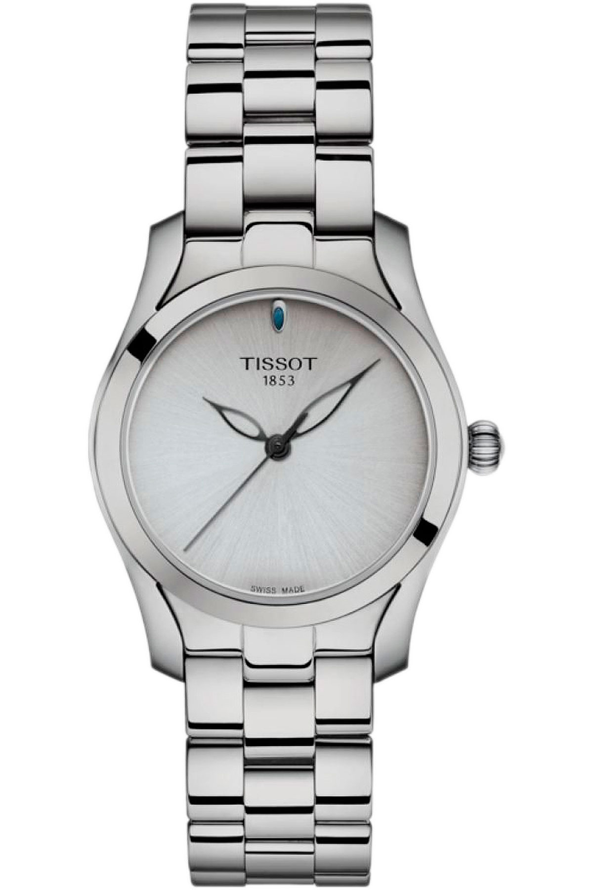 Tissot Watch for Women, Twave, Grey, Stainless Steel, 2019