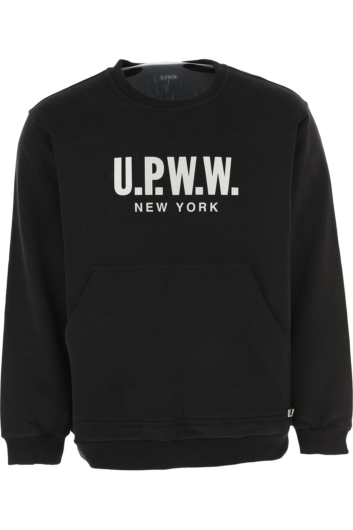 U.P.W.W. Sweat Homme Pas cher en Soldes, Noir, Coton, 2019, L M S XL