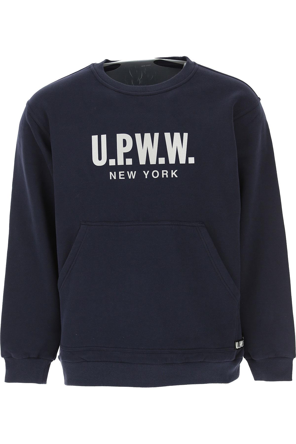 U.P.W.W. Sweat Homme Pas cher en Soldes, Bleu, Coton, 2019, L M S XS