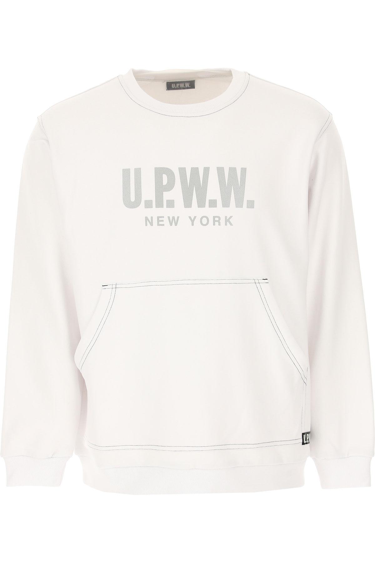 U.P.W.W. Sweat Homme Pas cher en Soldes, Blanc, Coton, 2019, L M S XS