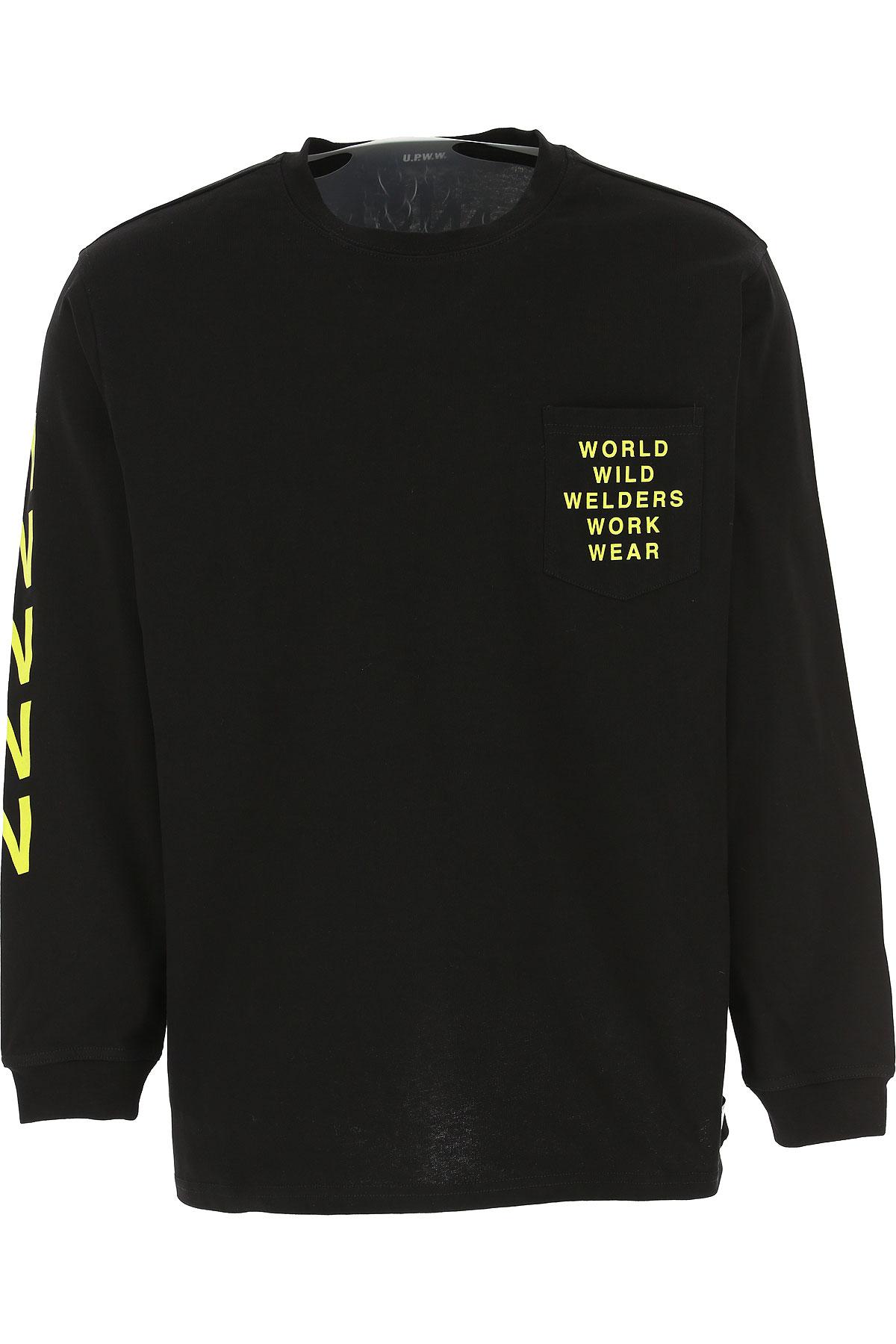 U.P.W.W. T-shirt Homme Pas cher en Soldes, Noir, Coton, 2019, M S XL